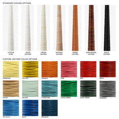 Pelle Designs Cotton and Leather Cord Options