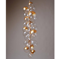 PELLE X-Tall Bubble Chandelier with Gold Leafing