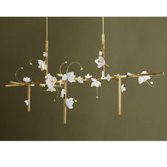 PELLE Lure Chandelier Brass 12