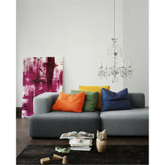 Piero Lissoni Alphabet Sofa in situ with Crystal Chandelier