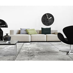 Piero Lissoni Alphabet Sofa in Room with Black Swan Chair