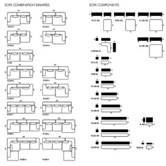Piero Lissoni Alphabet Sofa Configuration Specifications