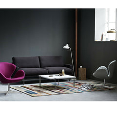 Piero Lissoni Two Seat Sofa in Room with Swan Chairs Fritz Hansen