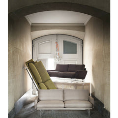 Piero Lissoni PL112 Two-Seat Sofas Artistically arranged in Room