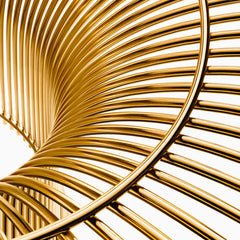 Platner Gold Side Table Detail Knoll
