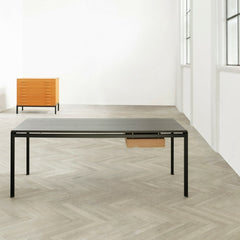 Poul Kjaerjholm PK52 Professor Desk in Loft with filing chest of drawers Carl Hansen and Son.