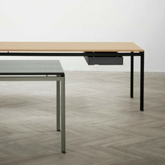 Poul Kjaerholm PK52 Desks Grey, Oak, Black Drawer Carl Hansen and Son