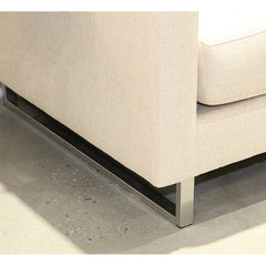 Precedent Furniture Blake Sofa Chrome Base Detail