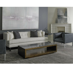 Precedent Furniture Corbin Sofa in room with Leather Club Chairs from Modern Loft Collection Model 3252-S1