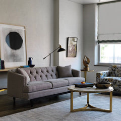 Precedent Furniture Emma Sofa in Room with Niko Cocktail Table