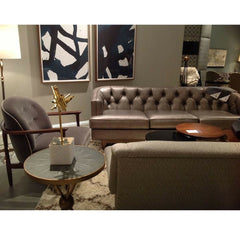 Precedent Furniture Emma Sofa Grey Leather in Precedent Showroom