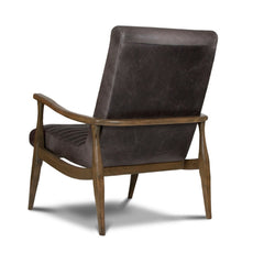Precedent Furniture Grey Leather Erik Chair Back formerly DwellStudio Hans Chair