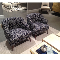 Precedent Furniture Indigo Print Courtney Chairs in Room
