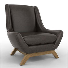 Black Leather Jasper Chair Precedent Furniture DwellStudio Jensen Leather Chair