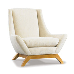 Precedent Furniture Jasper Chair in Ivory with French Oak Legs formerly DwellStudio Jensen Chair