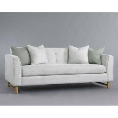 Precedent Furniture Keaton Apartment Sofa in Silver with Grey Background