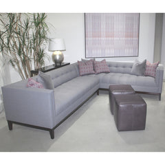 Precedent Furniture Cole Sectional 3109 Light Grey Lavender in Room
