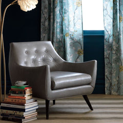 Precedent Furniture Marley Chair Grey Leather in Room