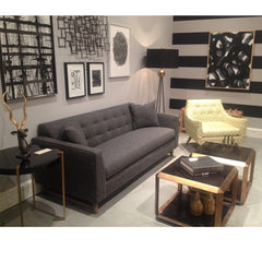 Precedent Furniture Marley Chair in Room with Keaton Sofa Formerly DwellStudio Channing Chair