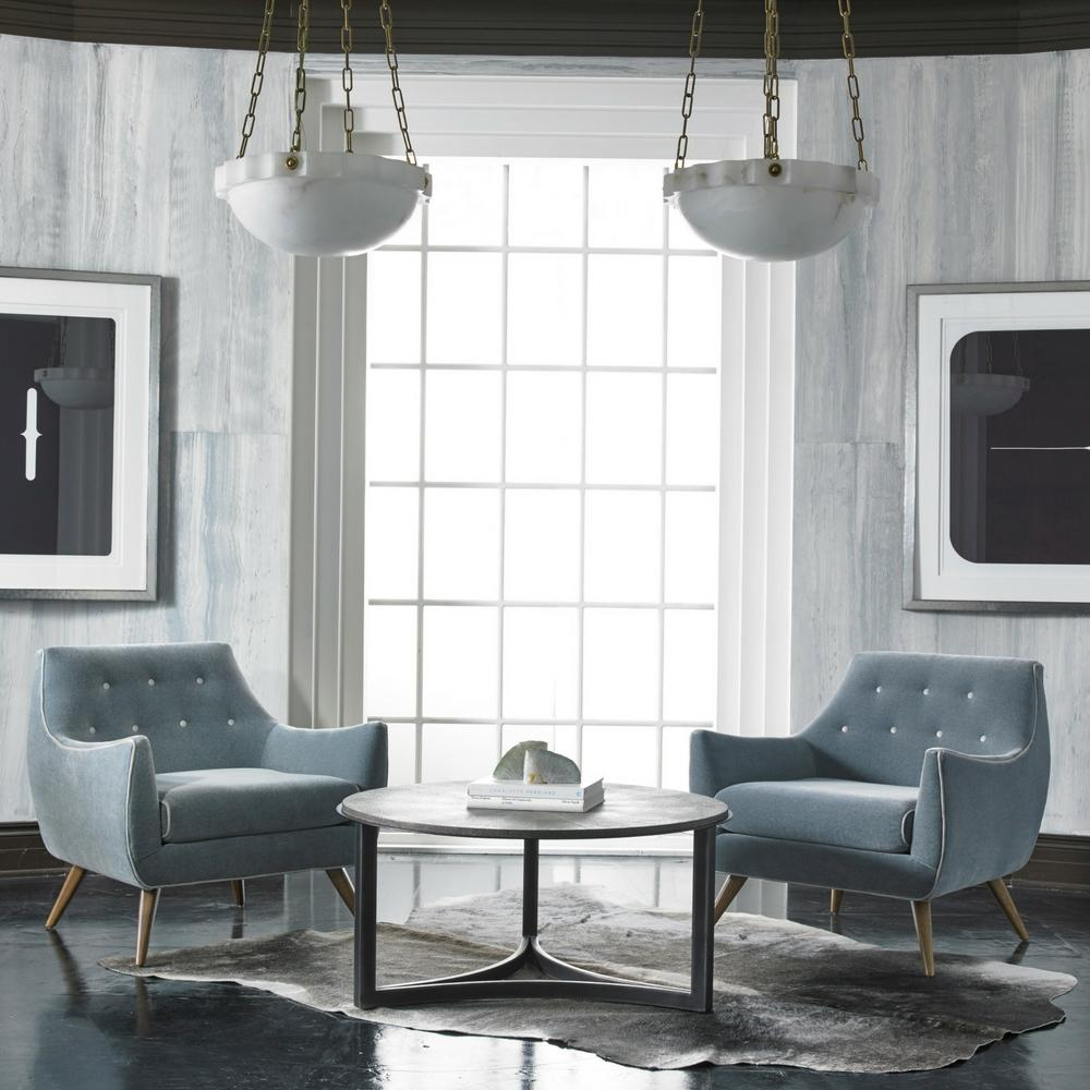 Incroyable Precedent Furniture Marley Chairs In Grey Velvet With Contrast Buttons In  Room