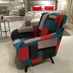 Precedent Mila Chair in Mondrian Fabric