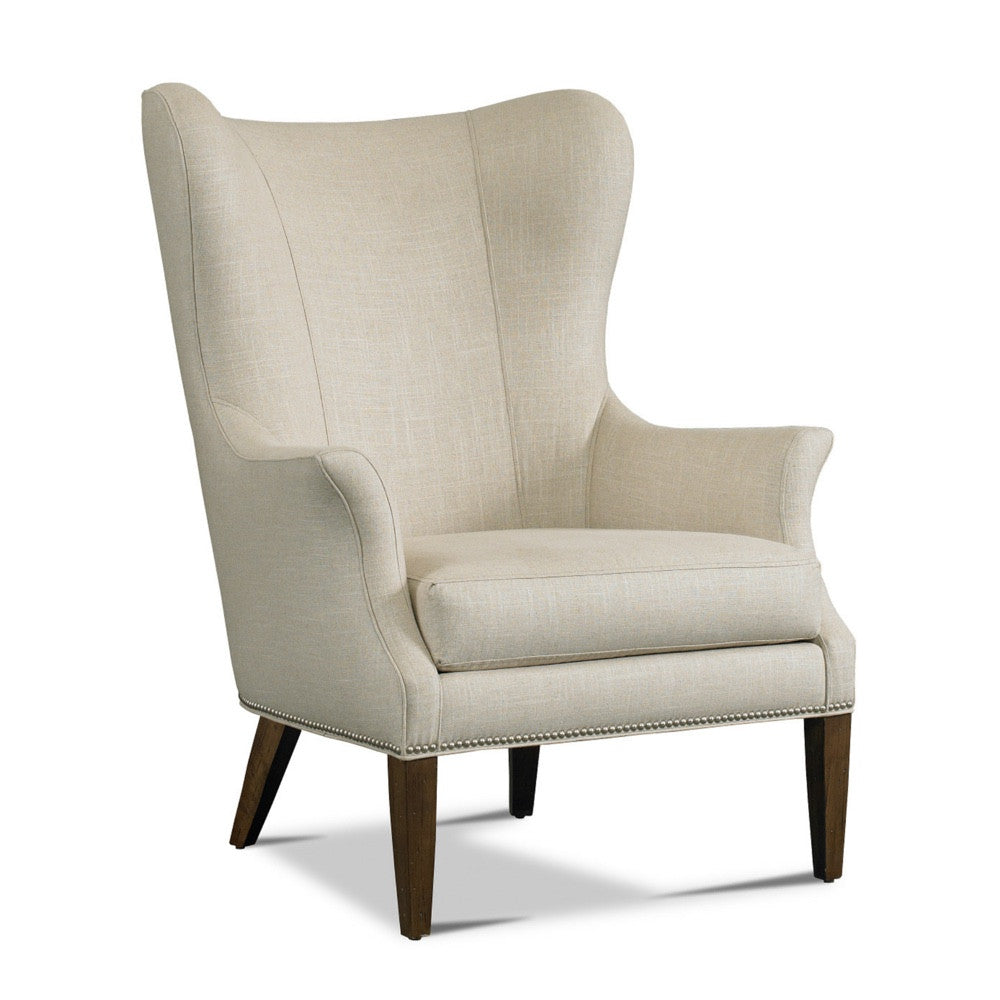 Precedent Furniture Tristen Chair in Cream Upholstery with Nailhead Trim Model 3200