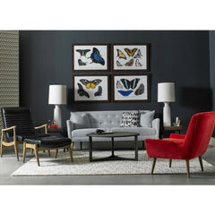 Precedent Furniture Suri Sofa in room with Erik Chair