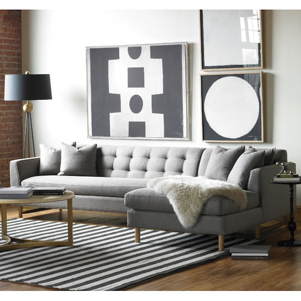 Charming Keaton L Shaped Sectional Sofa