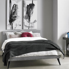 Precedent Roxanne Bed 259-QHR Styled in Room