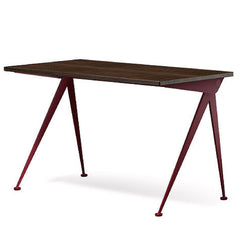 Prouve Desk Compas Direction Smoked Oak Top Japanese Red Base