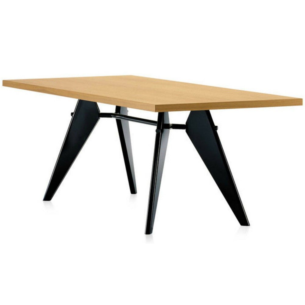Prouve EM Table Natural Oak Top Black Base Vitra
