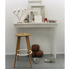 Prouve Tabouret Haut Bar Stool Natural Oak in situ Vitra