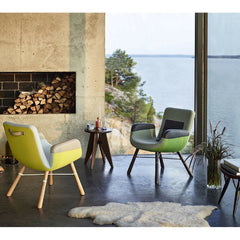 Prouve Tabouret Solvay Stool in Room with Hella Jongerius East River Chairs Vitra