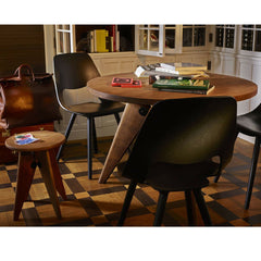 Prouve Tabouret Solvay Stool in Room with Gueridon Table Vitra