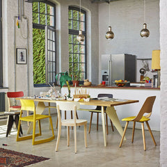 Prouve Tabouret Solvay Stool in Room with EM Table Vitra