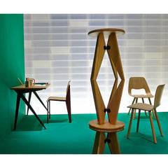 Prouve Tabouret Solvay Stools Stacked in Room with Compas Direction Desk Vitra