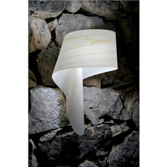 Ray Power Air A Wall Sconce Ivory White on Stone Wall LZF Lamps