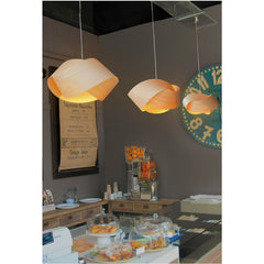 Ray Power Marivi Calvo Nut Suspension Lamp Natural Beech Bakery LZF Lamps