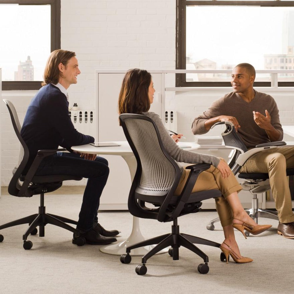 ReGeneration Office Chairs By Knoll With Tulip Table Office Meeting Palette  U0026 Parlor