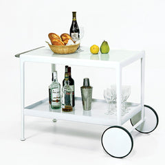Richard Schultz Bar Cart Styled with Drinks Knoll