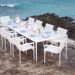 Richard Schultz 1966 Dining Armchairs with Table Overlooking Ocean Knoll Outdoors