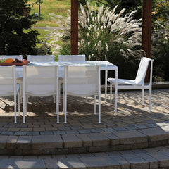 Richard Schultz 1966 Dining Table White Rectanglular on Patio Outdoor Knoll
