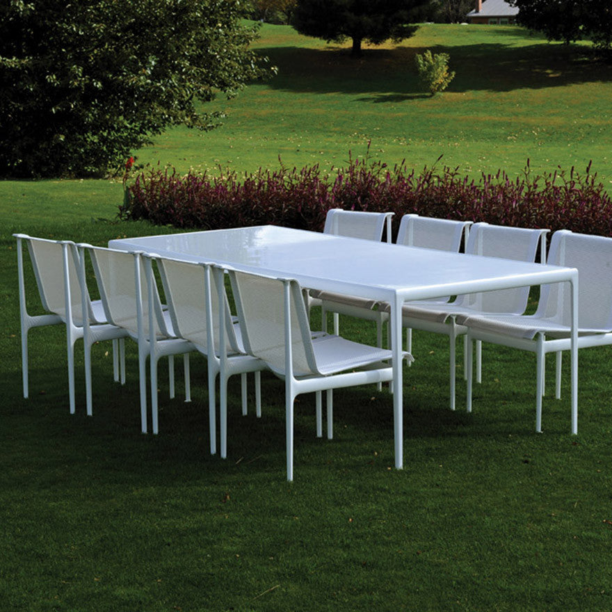 Knoll Richard Schultz Rectangular Dining Table Palette - White rectangular outdoor dining table
