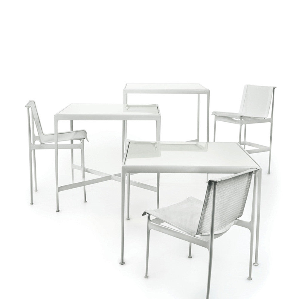 richard schultz  counter height table  modern furniture  - richard schultz dining counter bar height white porcelain tables knoll