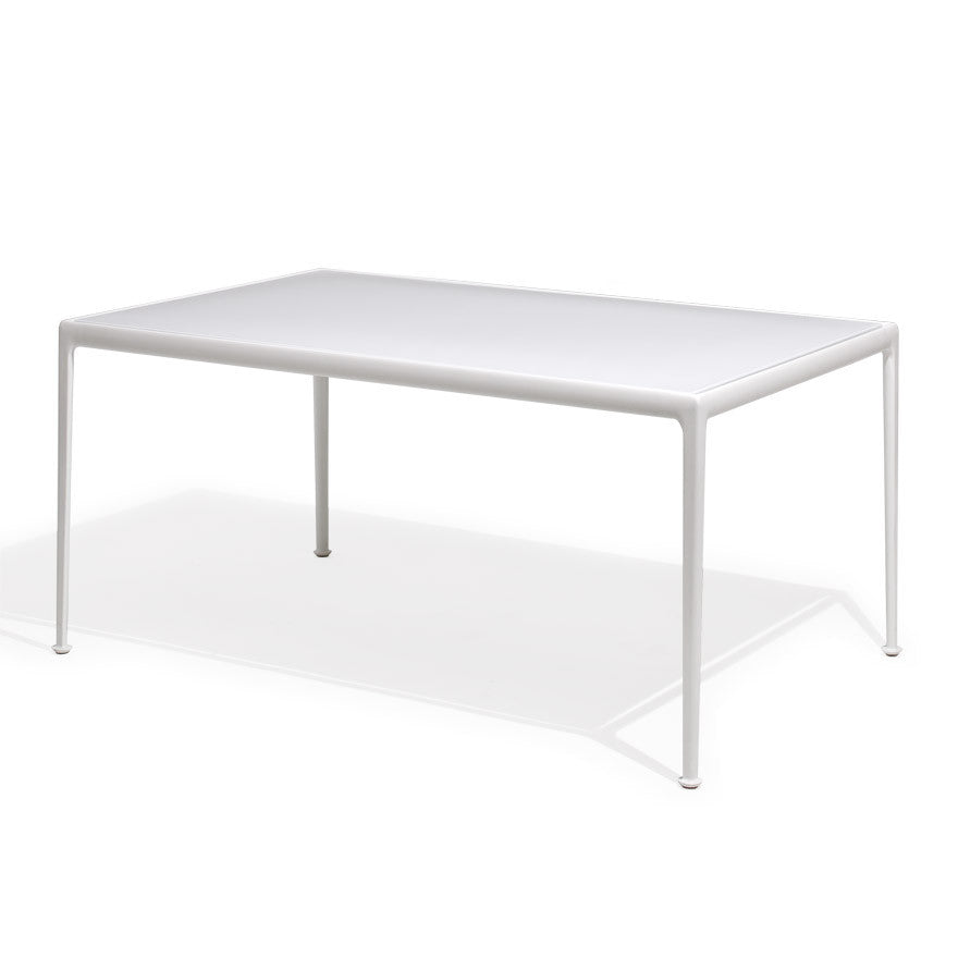 Richard Schultz 1966 Dining Table White Rectangular Outdoor Knoll