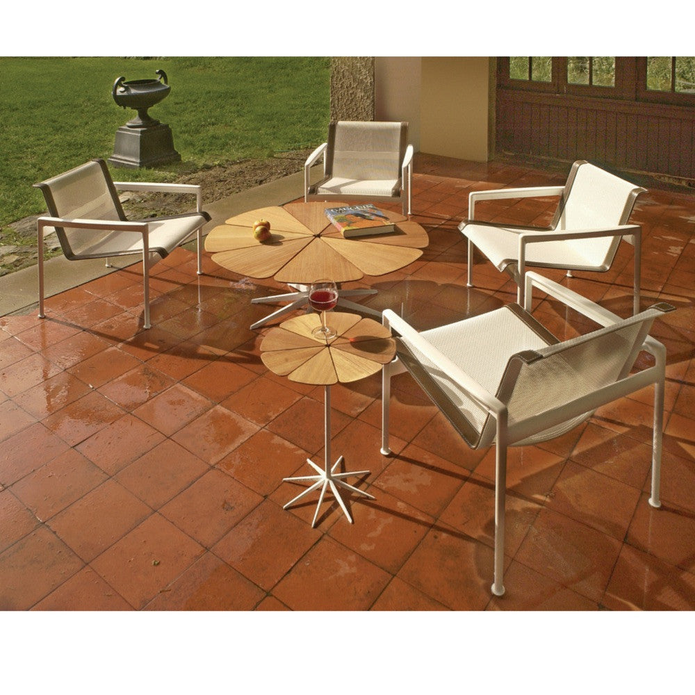 richard schultz petal coffee table  modern furniture  palette  - richard schultz petal tables with lounge chairs knoll outdoors