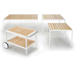 Richard Schultz 1966 Outdoor Collection Teak and Porcelain Barcart Knoll Outdoors