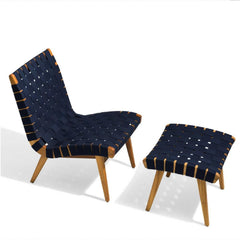 Risom Outdoor Lounge Chair and Ottoman by Knoll