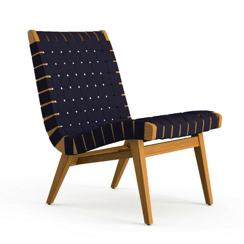 Knoll Risom Teak Outdoor Lounge Chair