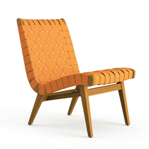 Knoll Risom Teak Indoor-Outdoor Lounge Chair